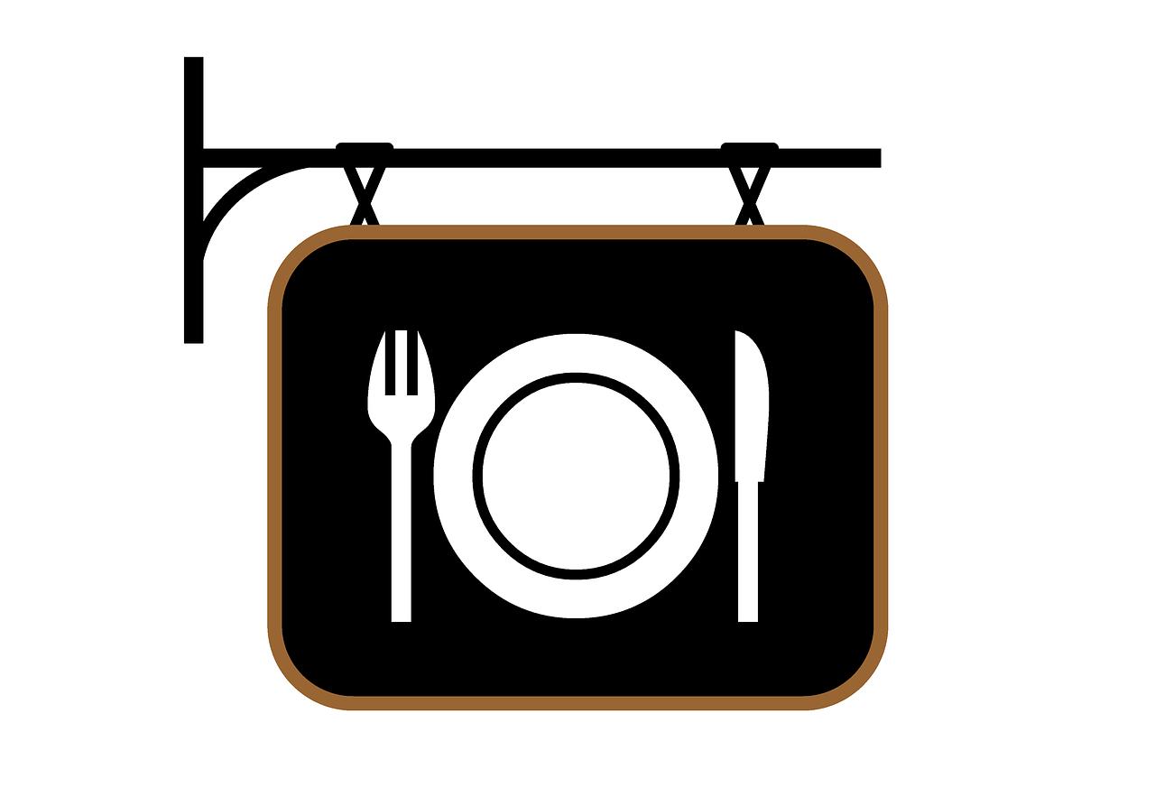 restaurant, sign, retro